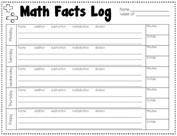 Homework Logs {Math and Reading}
