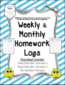 Homework border