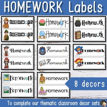 Homework Magnet for your Board - Freebie
