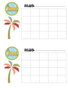 Homework Management Pack (Jungle/Rainforest Theme)