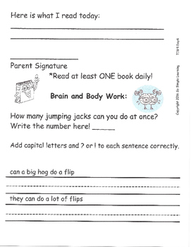 Homework McGraw Hill WondersThemes Pre-1 through 3 1st Grade