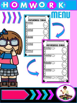 Homework Menu Editable
