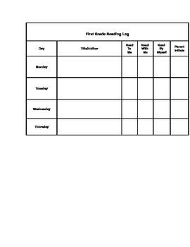 Homework Menu Template