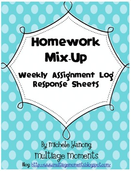 Homework Mix-Up:  Assignment Log Response Sheets