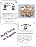 #sbdollardeal Homework Monthly Reading Logs