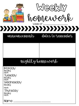 Homework Newsletter