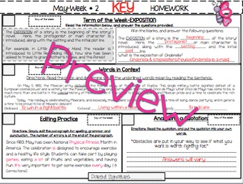 NO PREP Homework {May}:Idioms, Quotations, Words in Context, Editing