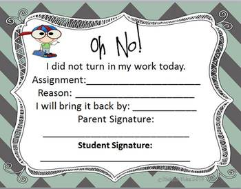 Homework Not Being Returned??  Oh NO!!