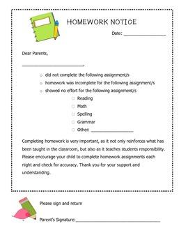 Homework Notice