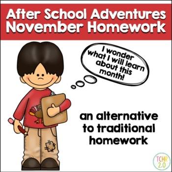 November Homework After School Adventures