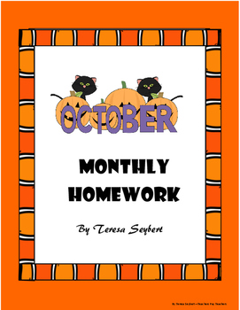 Homework October both English and Spanish