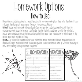 Homework Options