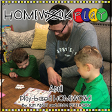 Homework PLAY Activities for April by Kim Adsit and Adam Peterson