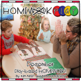 Homework PLAY Activities for December by Kim Adsit and Ada