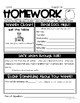 Homework Pack- Life Skills Based Homework for the Entire Year