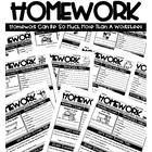 Homework Pack- Life Skills Based Homework for the Entire Year