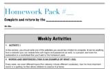 Homework Pack Template