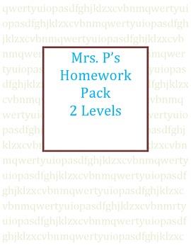 Homework Packet