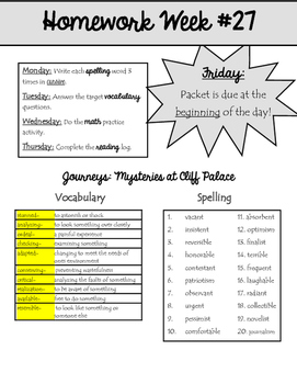 Homework Packet 27