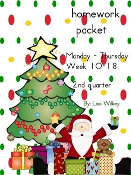 Homework Packet 2nd quarter (weeks 10-18)