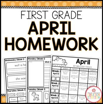 FIRST GRADE HOMEWORK | APRIL