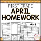 FIRST GRADE HOMEWORK | APRIL
