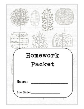 Homework Packet Cover