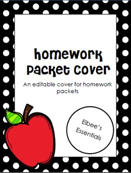 Homework Packet Cover