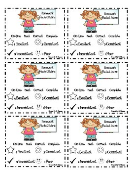 Homework Packet Cover Sheet and Rubric