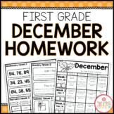 FIRST GRADE HOMEWORK | DECEMBER