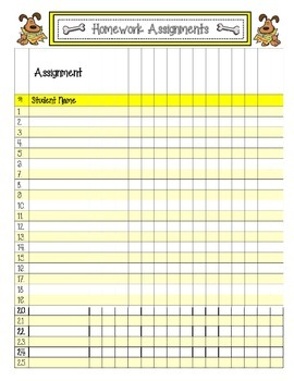 Homework Packet FREEBIE
