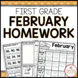 FIRST GRADE HOMEWORK | FEBRUARY