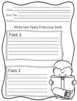 Reading Response Worksheets
