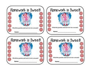 Homework Packet - Forms & Notices - CANDY THEME