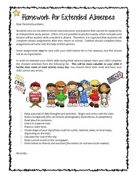 Homework Packet - Forms & Notices - HOLLYWOOD THEME