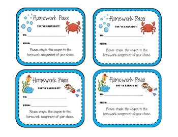 Homework Packet - Forms & Notices - OCEAN THEME