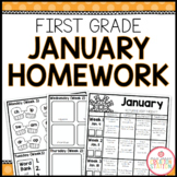 FIRST GRADE HOMEWORK | JANUARY