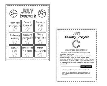 Homework Packet- July