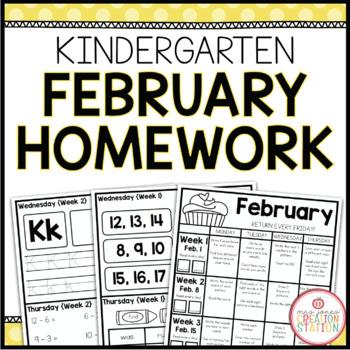 KINDERGARTEN HOMEWORK | FEBRUARY