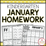 KINDERGARTEN HOMEWORK | JANUARY