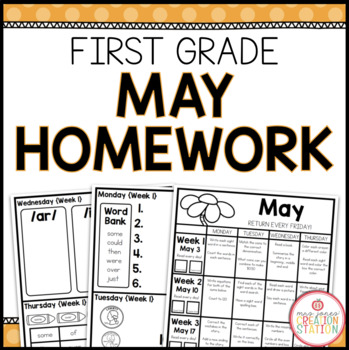 FIRST GRADE HOMEWORK | MAY