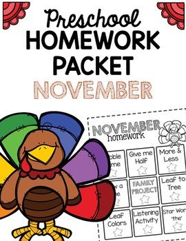 Homework Packet- November