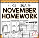 FIRST GRADE HOMEWORK | NOVEMBER