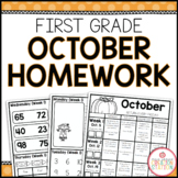 FIRST GRADE HOMEWORK | OCTOBER