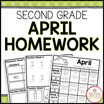 SECOND GRADE HOMEWORK | APRIL