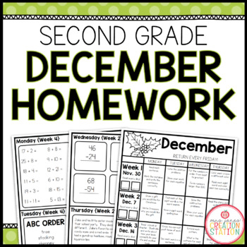 Homework Packet: Second Grade | December