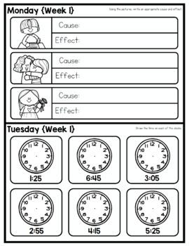 Homework Packet: Second Grade   February