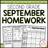 SECOND GRADE HOMEWORK | SEPTEMBER