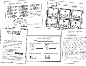 Homework Packet- September