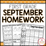 FIRST GRADE HOMEWORK | SEPTEMBER